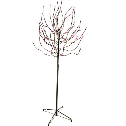 5.5' Bud Artificial Christmas Tree with 140 Fuschia LED Lights