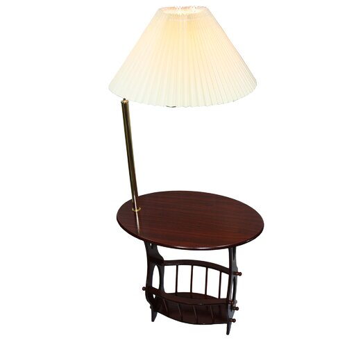 ore furniture floor lamp end table magazine rack combination. Black Bedroom Furniture Sets. Home Design Ideas