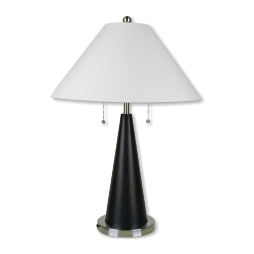 """ORE Furniture Metal Conical 28"""" H Table Lamp with Empire Shade"""