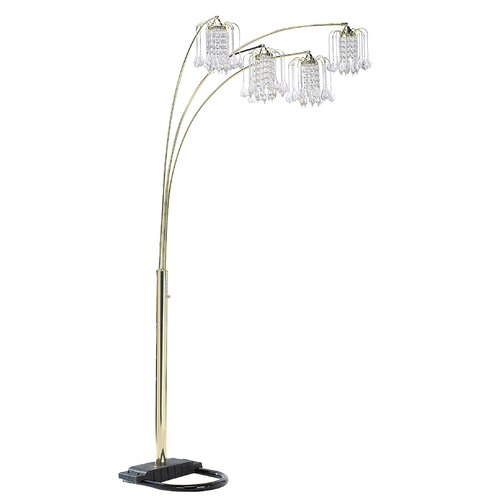 ore crystal floor lamp with crystal like shades reviews wayfair. Black Bedroom Furniture Sets. Home Design Ideas