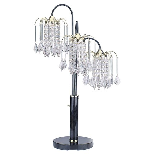 "ORE Furniture Crystal 34"" H Table Lamp"
