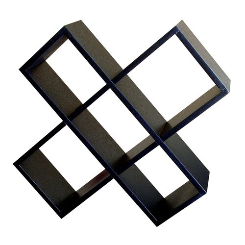 Crisscross Wall Mouted Multimedia Storage Rack