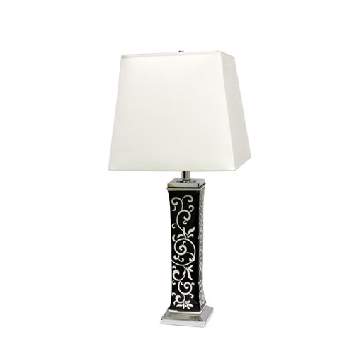 "ORE Furniture Paisley 28"" H Table Lamp with Square Shade"