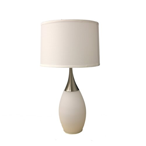 """ORE Furniture Modern Night Light 28"""" H Table Lamp with Drum Shade"""
