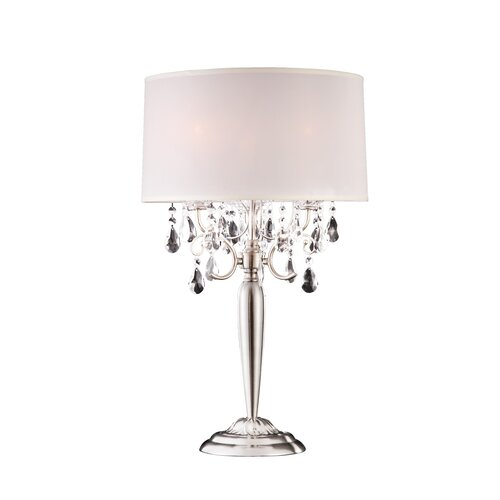 "ORE Furniture Crystal 29"" H 3 Light Table Lamp"