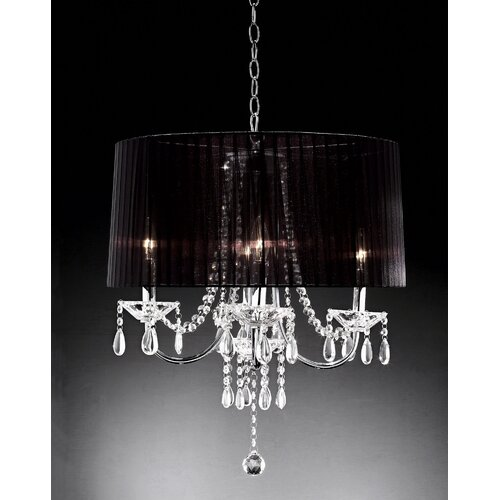 Crystal Drop 6 Light Chandelier