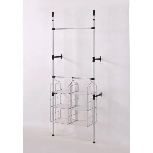 ORE Furniture Telescopic 106'' H x 34'' W x 13'' D Clothes / Towel Rack