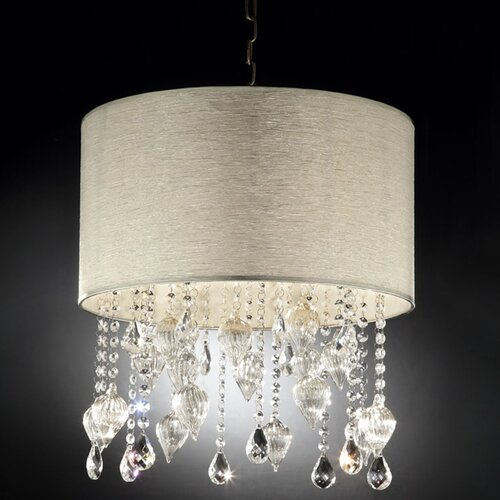 Drape Crystal 3 Light Ceiling Lamp