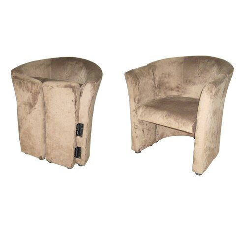 Upholstered Solid Wood Folding Chair