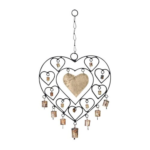 Metal Heart Windchime