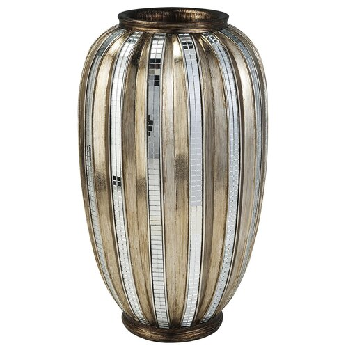 Metallic Tiles Decorative Vase