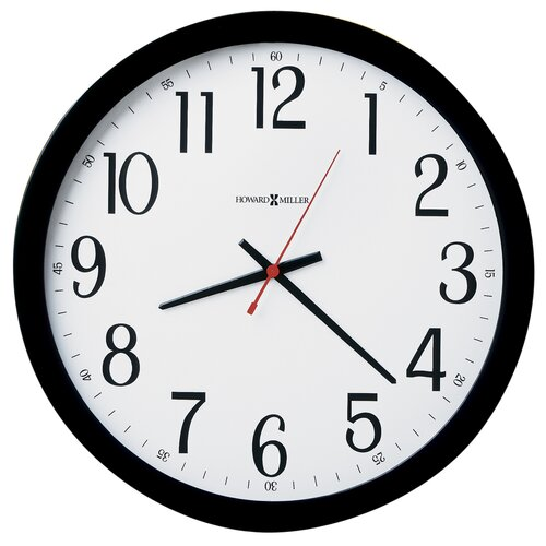 "Howard Miller® Home or Office Gallery 16"" Wall Clock"