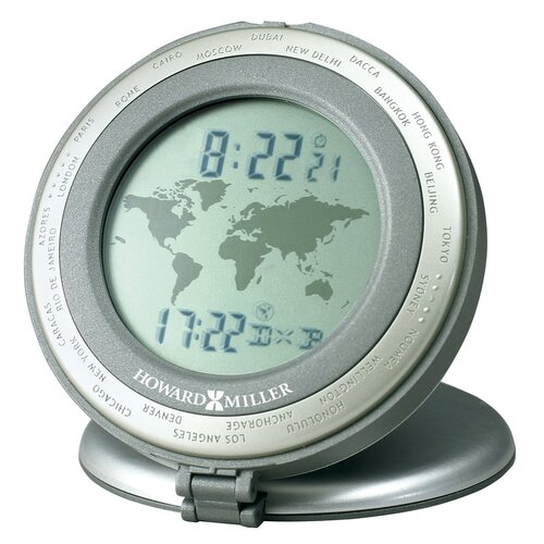 "Howard Miller® World Time 3"" Travel Alarm Clock"