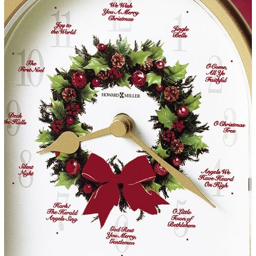 Howard Miller® Musical and Chiming Carols of Christmas Holiday Table Clock