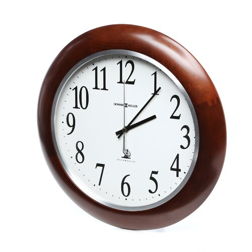 "Howard Miller® Radio Controlled Murrow Adjusted Atomic 13.75"" Wall Clock"
