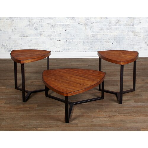 3 Piece Triangle Coffee Table Set