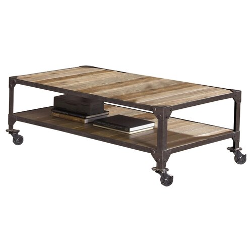 Largo industrial age coffee table reviews wayfair for Wayfair industrial coffee table