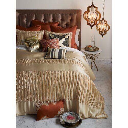 Blissliving Home Abu Dhabi Henna Silk / Linen Pillow