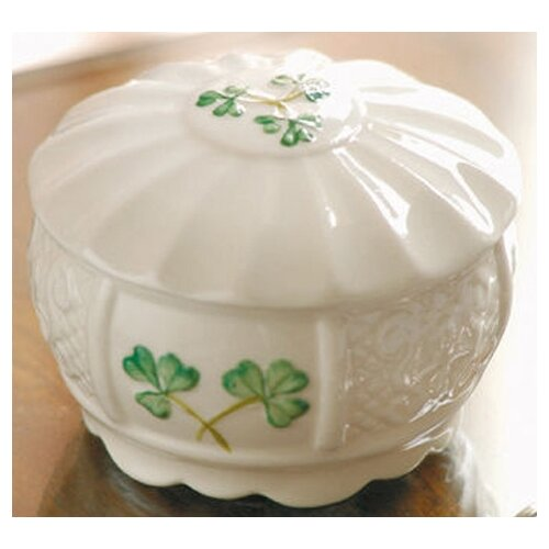 "Belleek Nadine 2.16"" Trinket Box"