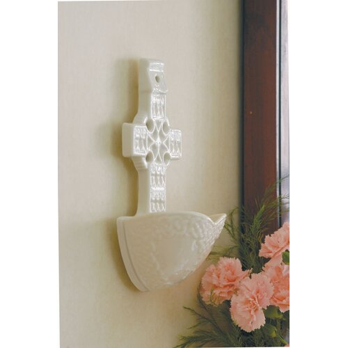 Belleek Celtic Cross Porcelain Water Font Fountain