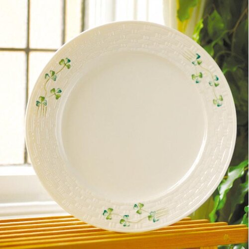 "Belleek Shamrock 11.25"" Dinner Plate"