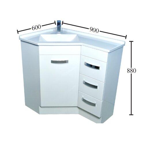 Kander Extended Corner 60cm Corner Vanity