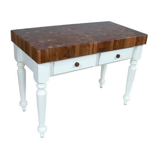 John Boos American Heritage Rustica Prep Table with Butcher Block Top