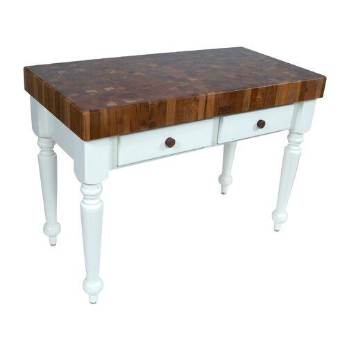 American Heritage Rustica Prep Table with Butcher Block Top