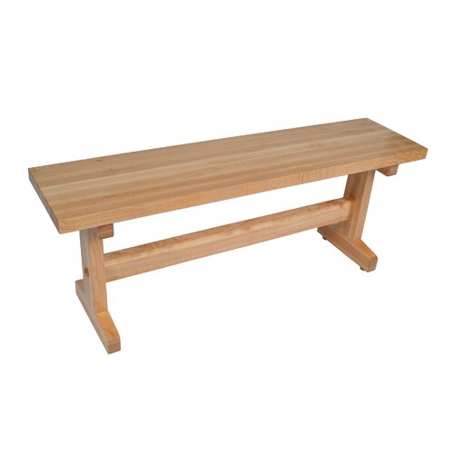 John Boos Trestle Wood Picnic Bench