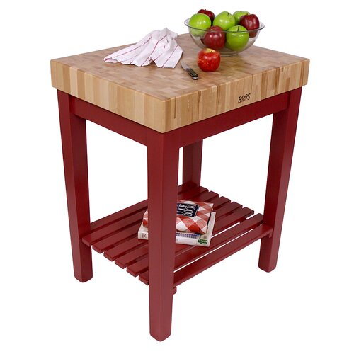 John Boos American Heritage Chef's Block Prep Table with Butcher Block Top