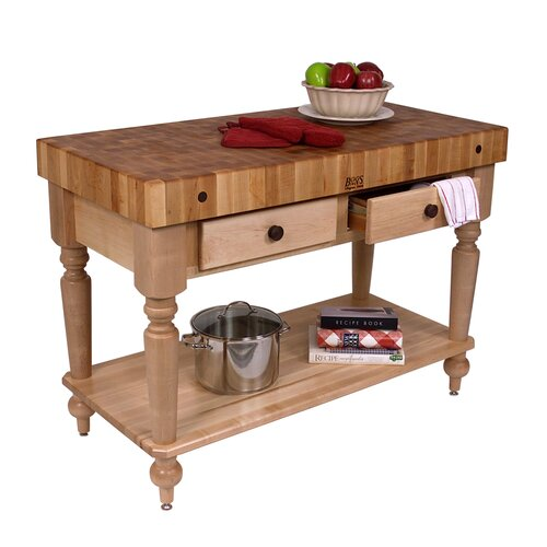 john boos american heritage kitchen island with butcher