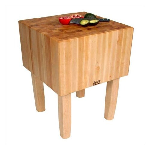 John Boos BoosBlock AA Professional Prep Table with Butcher Block Top
