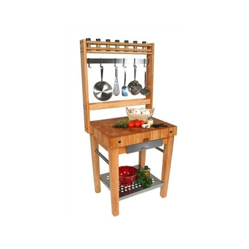 John Boos Cucina Americana Premo Prep Table with Butcher Block Top