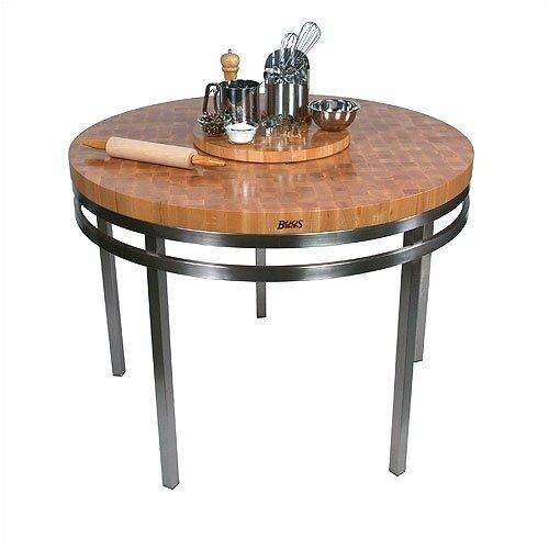 John Boos Metropolitan Designer Oasis Prep Table with Wood Top