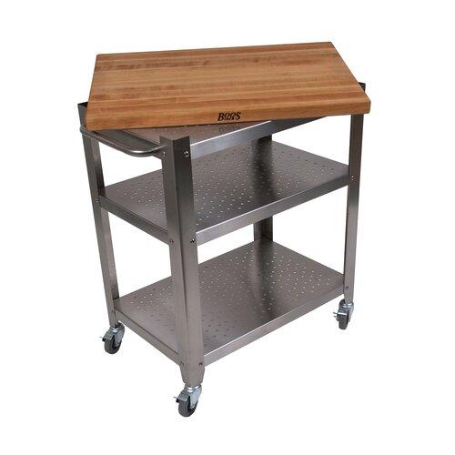 John Boos Cucina Americana Kitchen Cart with Butcher Block Top & Reviews Wayfair