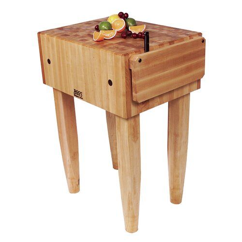 Pro Chef Prep Table with Butcher Block Top