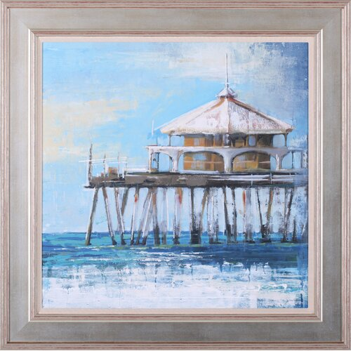 Boardwalk Pier by Liz Jardine Framed Painting Print