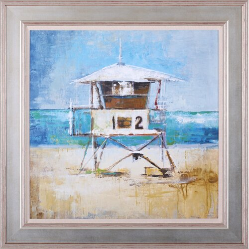 Lifeguard Tower by Liz Jardine Framed Painting Print