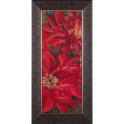 Art Effects Floral Frenzy Red II by Alan hopfens Perger Framed Painting Print