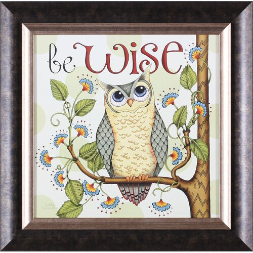 Art Effects Be Wise by Karla Dornacher Framed Painting Print