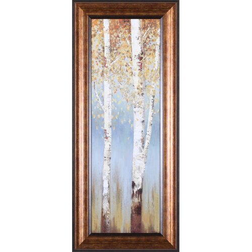 Art Effects Butterscotch Birch Trees II by Allison Pearce Framed Painting Print
