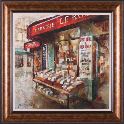 Art Effects Librairie Paris by Noemi Martin Framed Painting Print
