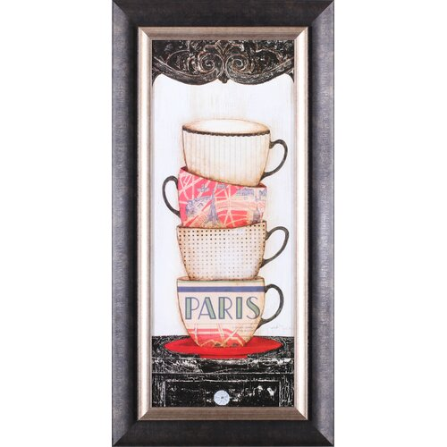 Art Effects 'Coffee in Paris' by Tava Studios Framed Graphic Art