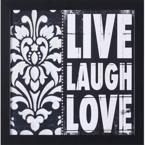 'Live Laugh Love' by Stephanie Marrott Framed Graphic Art