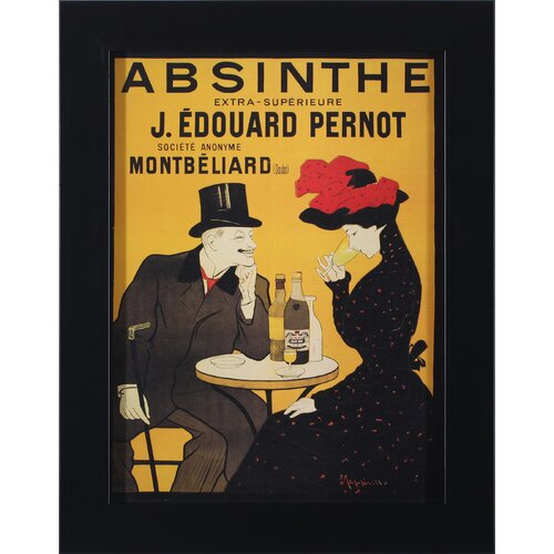 Absinthe Pernot Framed Vintage Advertisement