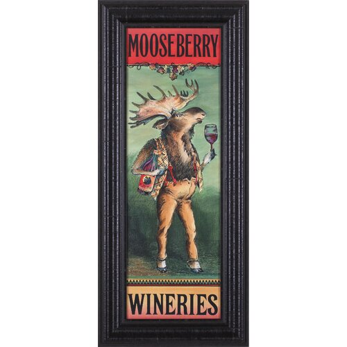 Art Effects Mooseberry Wineries by Penny Wagner Framed Vintage Advertisement