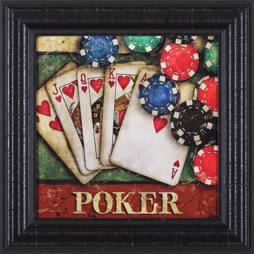 Poker by Mollie B. Art Framed Vintage Advertisement