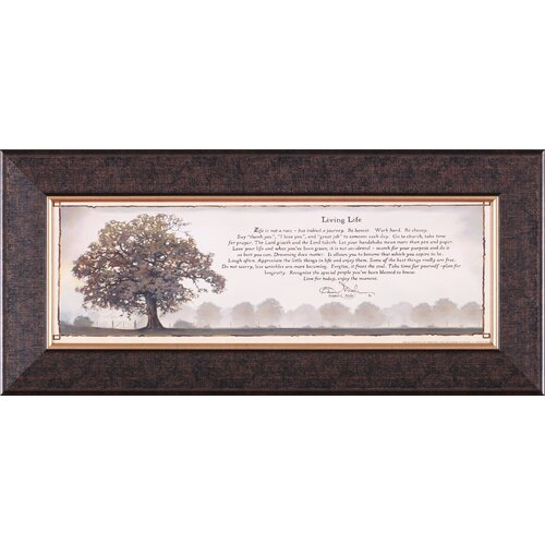 Art Effects Living Life Petite by Bonnie Mohr Framed Textual Art