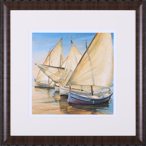 Windward Latin Sails by Jaume Laporta Framed Painting Print