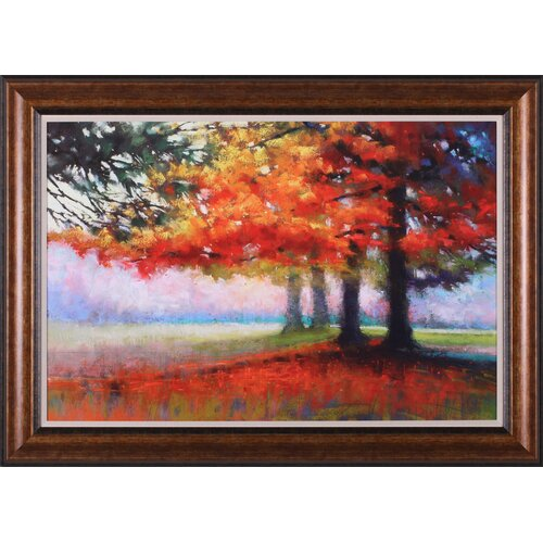 Art Effects Orange Haven by Marla Baggetta Framed Painting Print